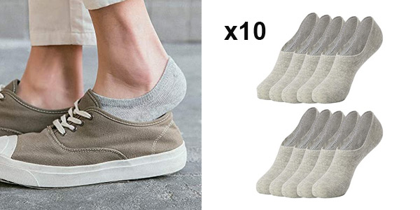 Pack x10 Pares Calcetines invisibles Falechay barato en Amazon