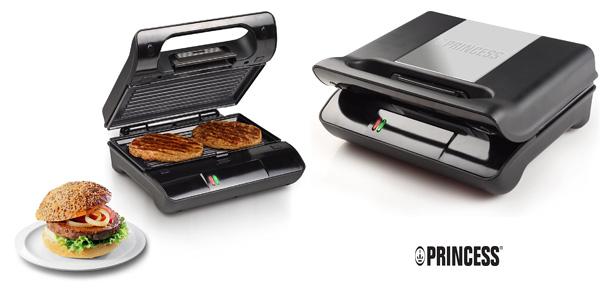Parrilla Princess Grill Compact Flex de placas extraíbles y almacenamiento vertical de 700 W barata en Amazon