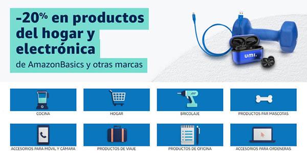 Productos AmazonBasics promoción para clientes Prime