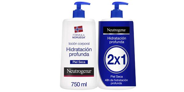 Pack x2 Neutrogena Loción Corporal Hidratación Profunda Piel Seca de 750ml barato en Amazon