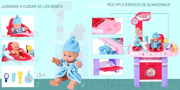 Set de cuidados de muñecas Homcom para niños chollo en Amazon