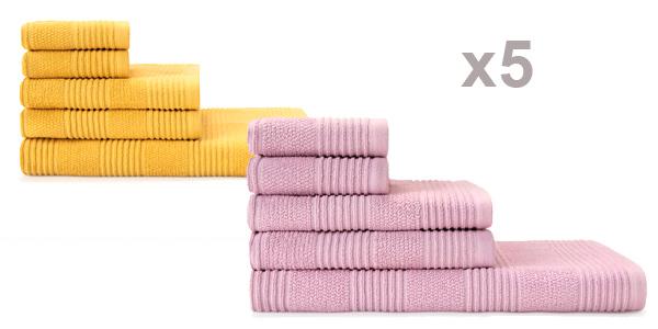 Juego x5 toallas de Algodón Sky baratas en El Corte Inglés