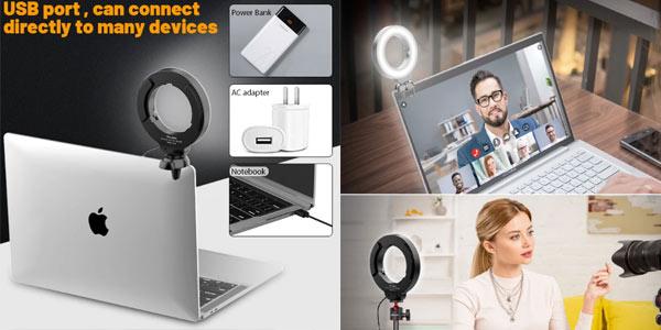 Anillo de luz USB para videoconferencias barato