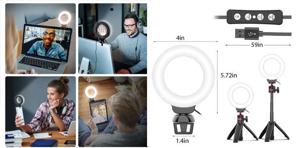Anillo de luz USB para videoconferencias en oferta