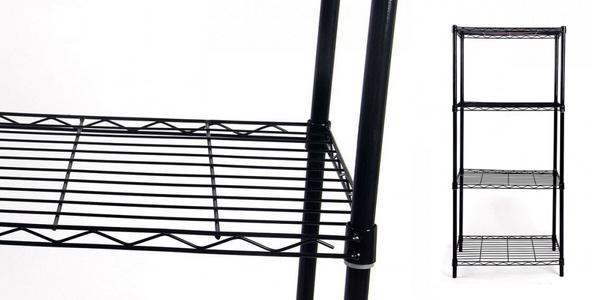 Estantería metálica negra con 4 baldas 91 Store chollo en AliExpress Plaza