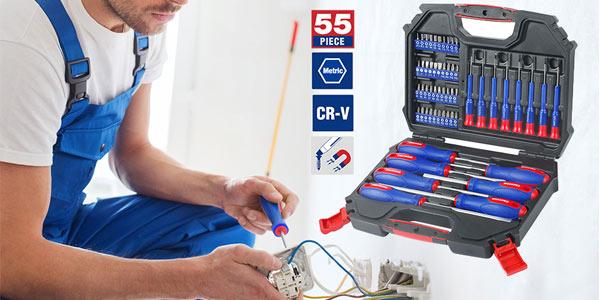 Juego 55 piezas de destornilladores de precisión Workpro barato en AliExpress