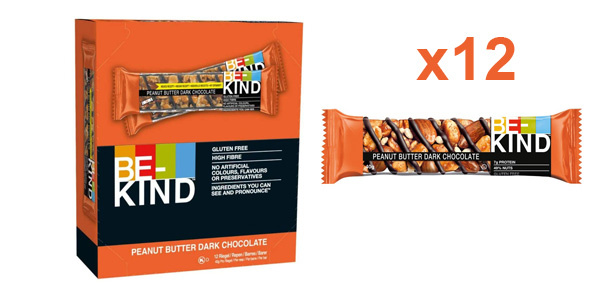 Pack x12 Barritas de Frutos secos Be-Kind con mantequilla de cacahuete y chocolate negro de 40 gr/ud barato en Amazon