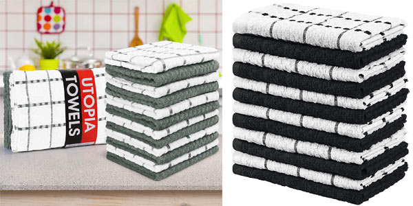 Pack x12 toallas de cocina Utopia Towels baratas en Amazon