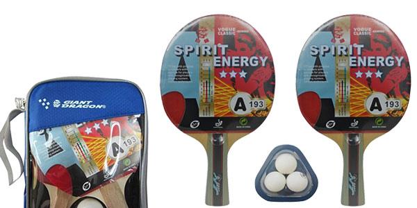 Set de Ping Pong (2 palas + 3 pelotas) Kounga GD barato en Amazon