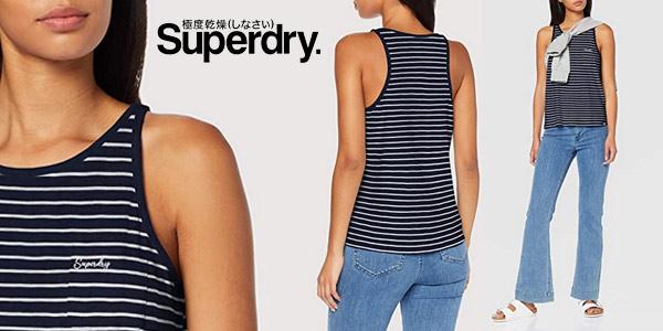 Camiseta de tirantes Superdry OL Essential Tank para mujer barata en Amazon