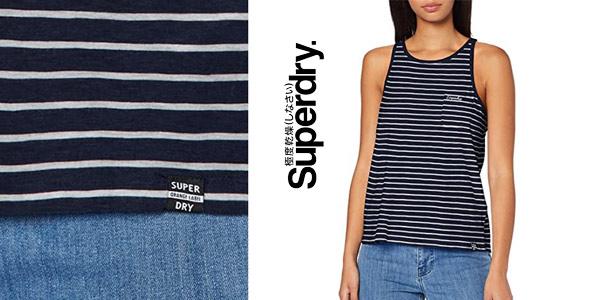 Camiseta de tirantes Superdry OL Essential Tank para mujer chollo en Amazon