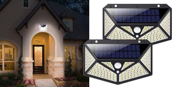 Pack x2 Luz Solar Exterior 150 LED Kilponen barato en Amazon